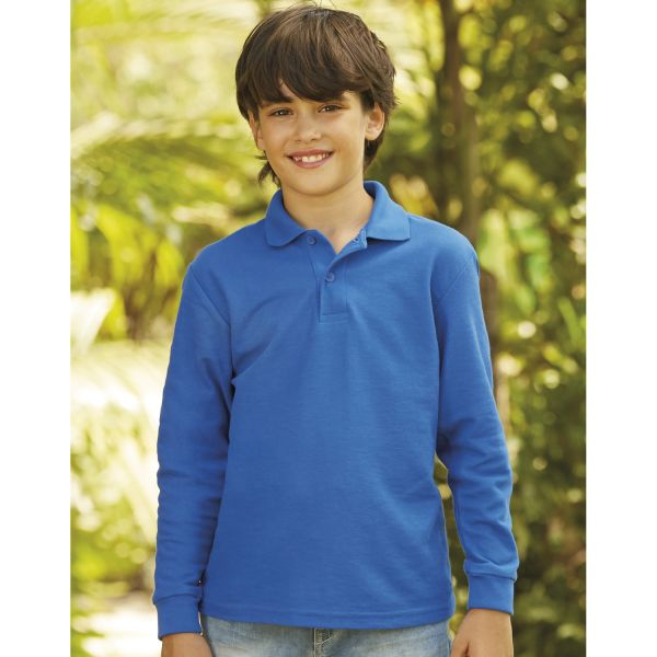 Fruit of the Loom Kinder Langarm-Poloshirt